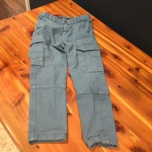 Bonpoint dusty blue cargo pants. Size 4T